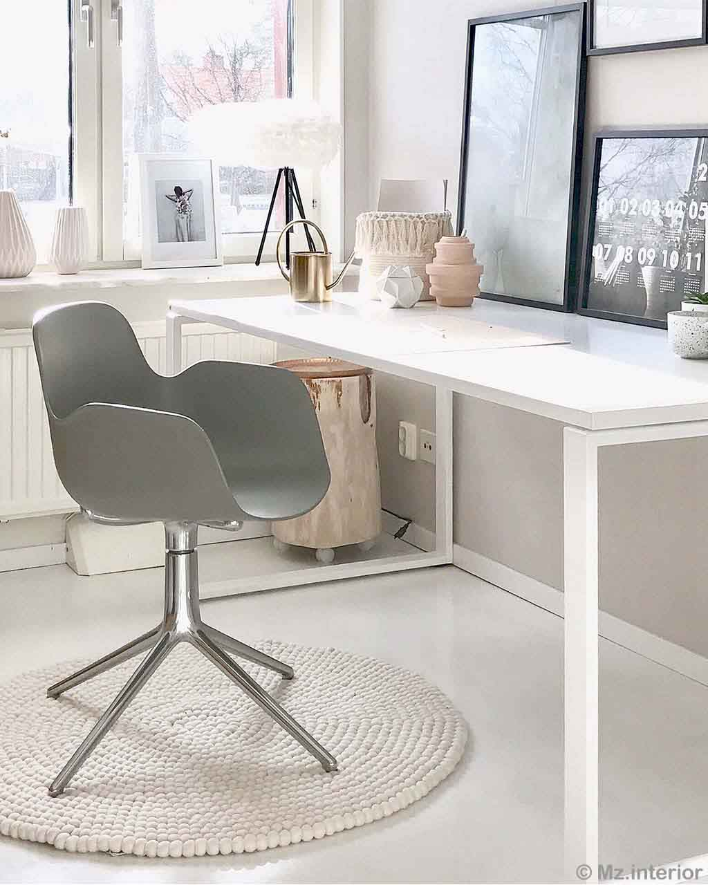 hand knotted gray chair and white table from nepal kitchen rugs