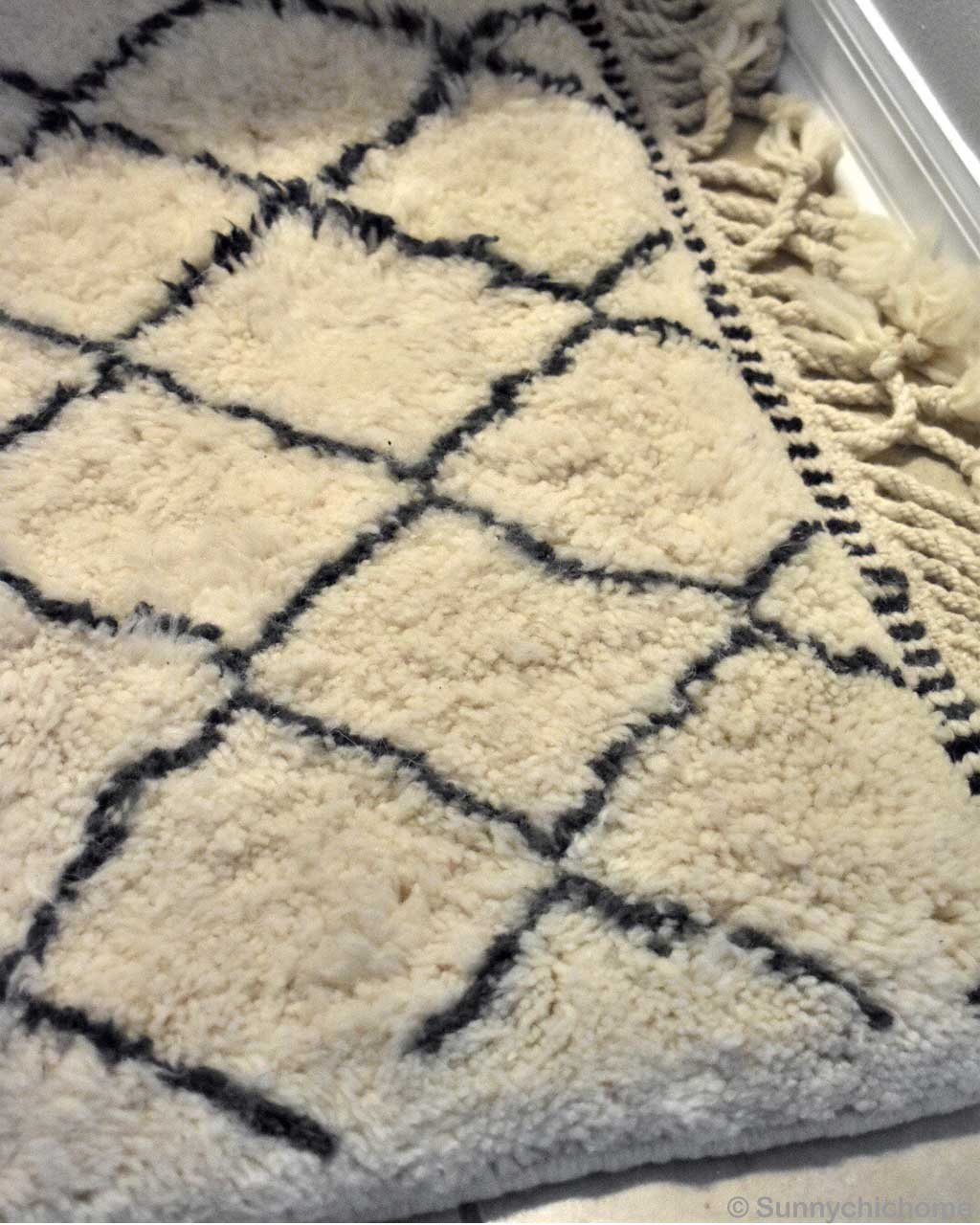 modern alabaster beni ourain with black patterns room rugs