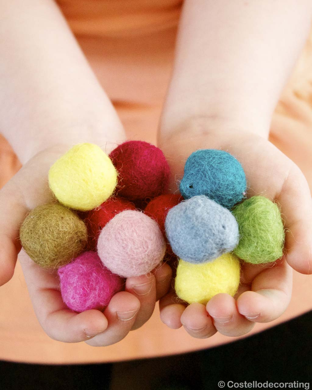 multiple colors raw felt in hands nepalian made clearance rugs