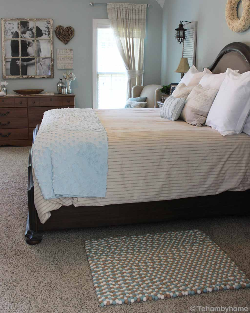 woolen bed with multiple pillows nepal designer rugs