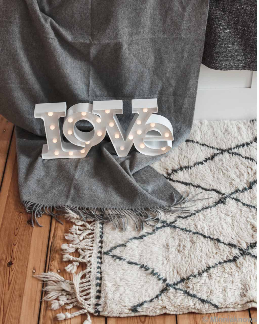 woolen wooden floor with love tag from morocco fresh rugs