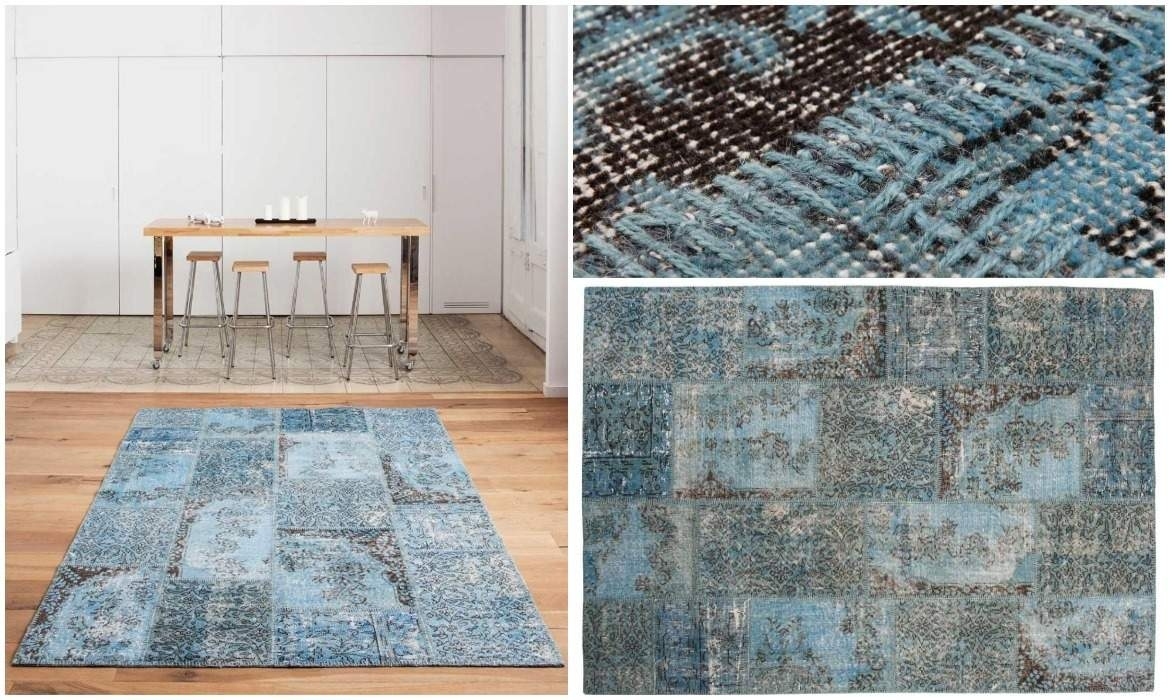 blue-overdyed-patchwork-runner-rug-in-living-room